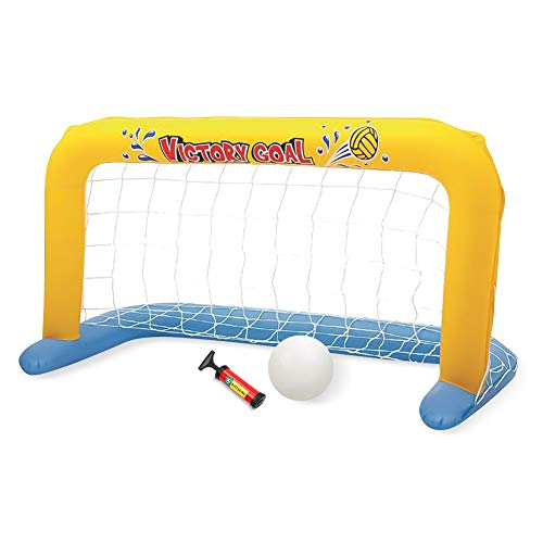 SubClap Floating Pool Water Handball Goal Net-Pool Toys for Kids Summer Swimming Water Sports Game Toy Inflatable Blow Up Ball with Hand Pump for Children & Adult