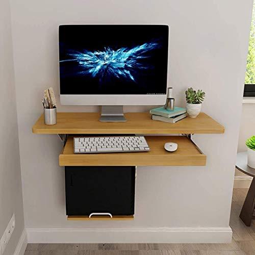 WBMKH Hängende Klapptisch Wand befestigten Klapptisch Klapptisch, Holzbürocomputer Schreibtisch nach Oben klappen, for kleine Räume mit Schubladen und Regalen Küche Esstisch, Natürlich, Klapptisch