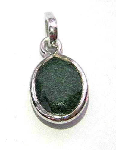 Colgante de plata de ley aventurina verde con piedras preciosas de cristal curativo, para hombres y mujeres, regalo de moda para el bienestar metafísico, accesorio de energía hecho a mano