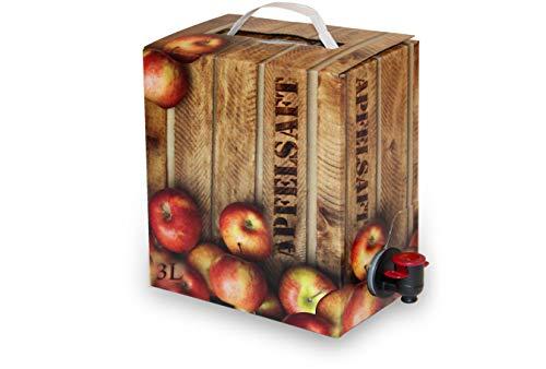 Apfelsaft naturtrüb | 100% Direktsaft ohne Konservierungs- und Aromastoffe |2er Pack (2 x 3 Liter, Bag in Box mit Zapfhahn)