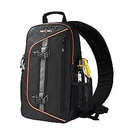 Sling shot Edge Bag Umhängetasche Concept Sling Backpack Kamera Umhängetasche Wasserdichte Kameratasche für Spiegelreflexkameras (DSLR) und spiegellose Kameras für Canon Sony Nikon Black-black
