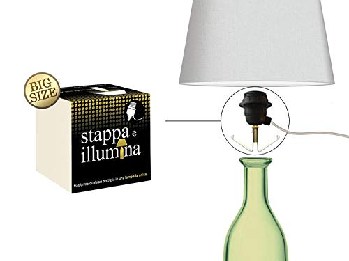 Stappa e Illumina Big Size – Botellas de lámparas en 30 segundos – Botellas con orificio de 20 a 30 mm – Champán, vino, ginebra, vodka, espumante