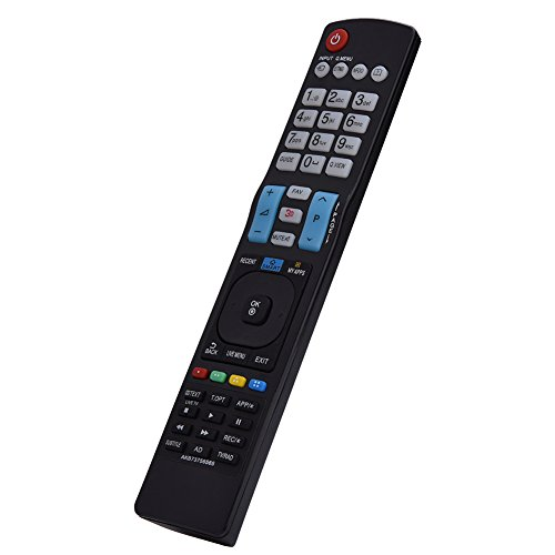 Sxhlseller Mando a Distancia de TV - AKB73756565 Reemplazo del Control Remoto Se Adapta a LG Smart TV - Pequeño Control Remoto de TV Compacto