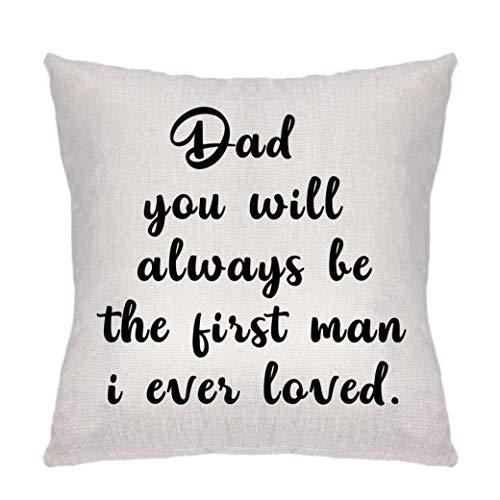Fader gåvor från barn – jul födelsedagspresenter till pappa – bästa pappa gåvor till far styvfar prydnadskudde överdrag soffa säng hem bil dekor