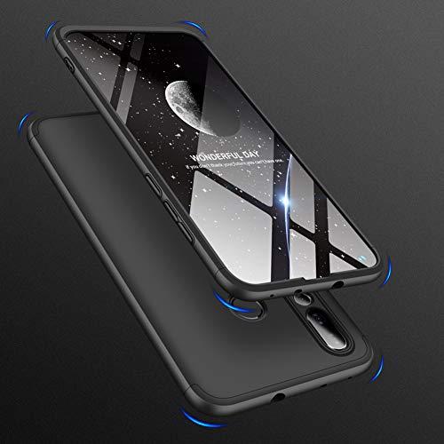 Huawei Nova 4 Hülle mit Hartglas, AChris 360 Grad Handyhülle Bumper Case Robust Schutzhülle Cover mit Displayschutz Schutzhülle Backcover für Huawei Nova 4 - 4