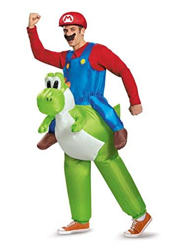 Super Mario Bros. Boys Mario Riding Yoshi Halloween Costume - One Size