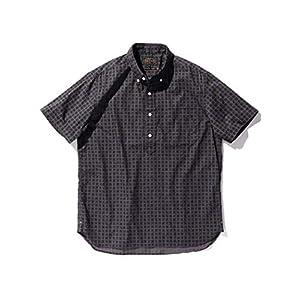 (ビームス)BEAMS/半袖シャツ PLUS バティックプリント 半袖 プルオーバー ボタンダウン<br> メンズ CHARCOAL.G XL