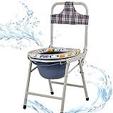 Chair Toilettensitz für Erwachsene, tragbar, zusammenklappbar, robust, zusammenklappbar, über der Toilette und am Bett, medizinischer Toilettensitz, mit leicht abnehmbarem Topf, Deluxe, leicht