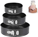 Springform Pan (4'/7'/9') Set,Non-stick Leakproof Round Cake Pan Bakeware Baking Pans Cheesecake Pan 3 Pack