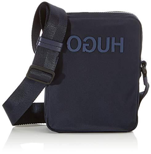 HUGO Herren Record_ns Zip Stoff-und Strandtasche Blau (Navy)