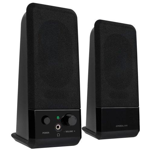 Speedlink EVENT Stereo Speakers - luidspreker met jackstekker voor kantoor, thuiskantoor, pc/notebook, zwart