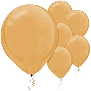 Pearlized Latex Balloons | Gold | Pack of 100 | Party Decor