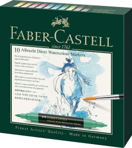 Faber-Castell Albrecht Durer Artists' Watercolor Markers – 10 Assorted Colors – Multipurpose Art Markers …