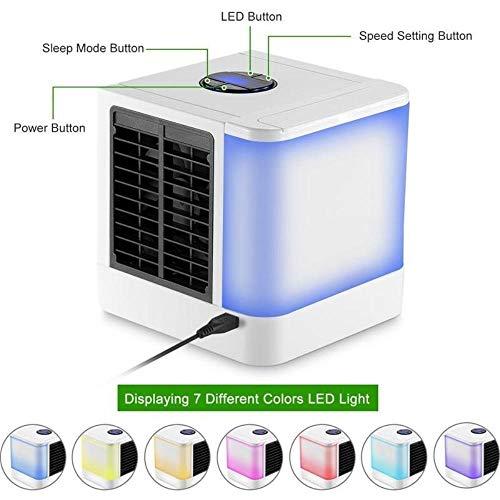 CCCLLL Neveras portátiles de Aire, acondicionadores de Aire, humidificadores refrigerador pequeño, 3 Ventilador de Velocidad de enfriamiento para la Seguridad del Escritorio
