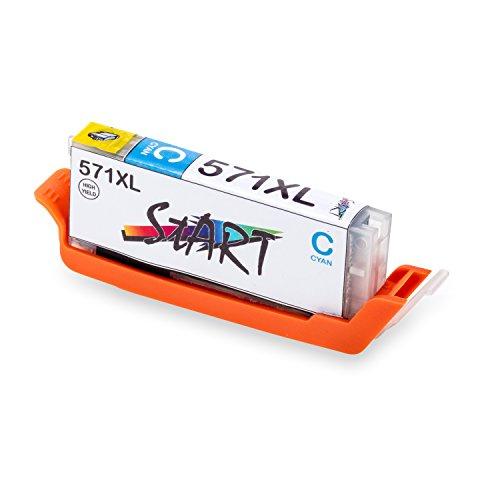 Start - XL Compatible Chip Cartuccia per Canon CLI-571 C XL Ciano
