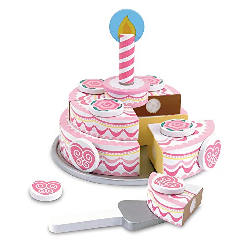 Melissa & Doug Wooden Triple-Layer Party Cake