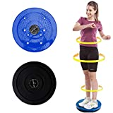 OUTLANDWAY Exercise Twist Board, Non-Slip Body Shaping Twisting Waist Twister Plate Exercise Machine.Ankle Body Aerobic and Cardio Exercise Twist Board, Wobble Fitness Fit Waist Exercise (Blue)