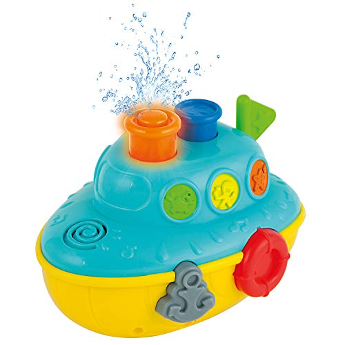 KiddoLab Musical Bath Boat. Floating Water Toy with Flashing Lights. Bath Toys for Toddlers for Baby Bathtub Playtime Fun! 12 Months+
