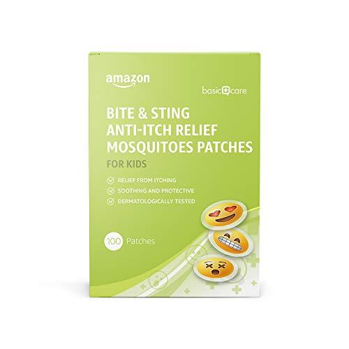 Amazon Basic Care - Stechmücken-Pflaster gegen Juckreiz bei Bissen und Stichen für Kinder - 100 Stück