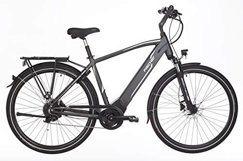Fischer Herren – E-Bike Trekking VIATOR 5.0i, grau matt, 28 Zoll, RH 50 oder 55 cm, Brose Drive C Mittelmotor 50 Nm, 36 V Akku