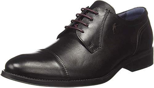 Fluchos   Zapato de Hombre   HERACLES 8412 Memory Negro Zapato de Vestir   Zapato de Piel de Vacuno de Primera Calidad   Cierre con Cordones   Piso de Goma Personalizado
