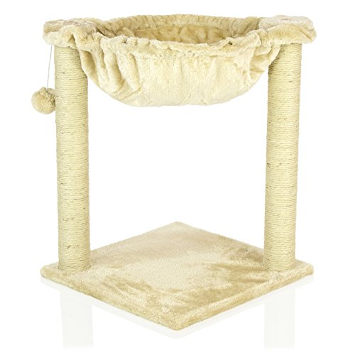 COZY PET Deluxe Cat Tree with Extra Large Hammock Scratcher Activity Centre Scratching Post Heavy Duty Sisal Cat Trees in Beige CT12-Beige. (We do not ship to the Channel Islands or Isles of Scilly)