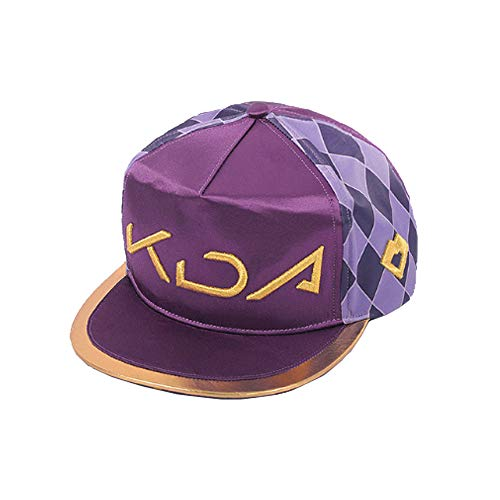 LOL KDA Cosplay Akali Girl Boy Hat Mask K/DA Group Accessories Christmas (One Size, Purple New)