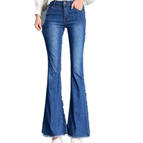 UHFIA Waist Wide Leg Pants for Women LIM Micro Flared Jeans Women Flared Pants Indigo