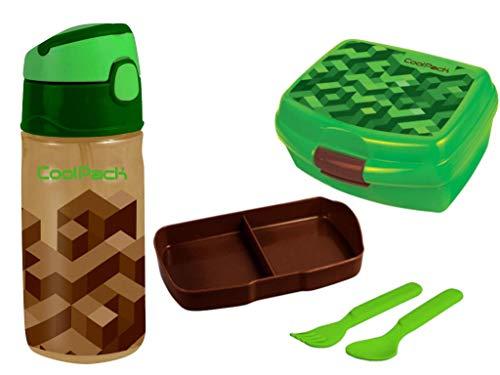 Coolpack Set Brotdose + Flasche Schule Kindergarten Sport Frühstückset Pausenset