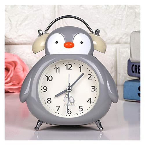 yywl Reloj Despertador Double Campana Anillo Reloj Despertador Noche de Noche decoración for el hogar Artículos de Regalo Son for niños y Estudiantes (Color : Gray)