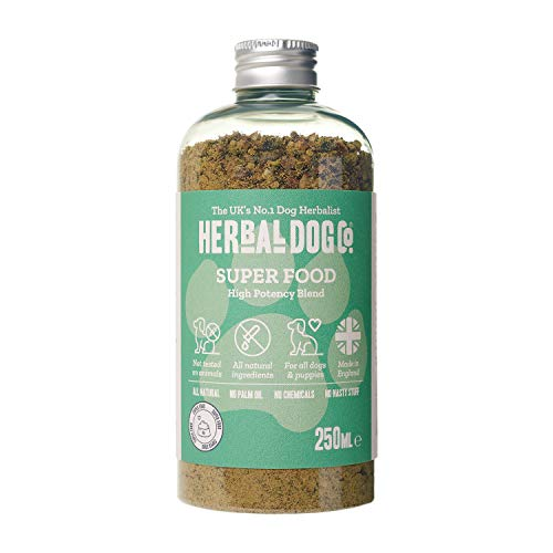 Superfood Blend | High Potency | Natural Supplement | Dog & Puppy | 250ml | Powder Formula | 1 to 2 Month Supply | Good Heath | Wellbeing