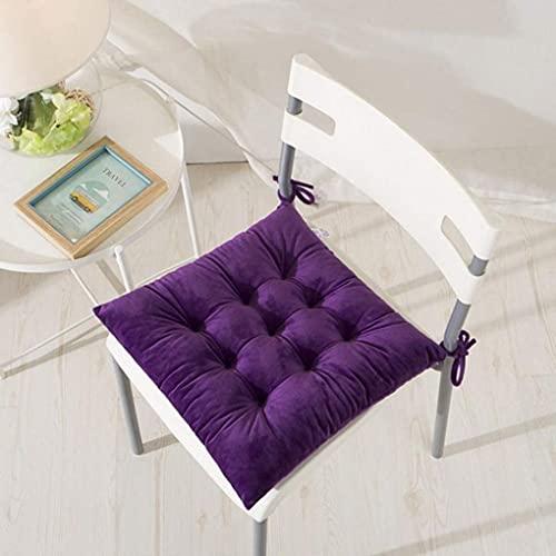 XIAOWEI Cuscini per sedie Viola per sedie da Pranzo, Cuscini per sedie da Cucina per Sedia in Legno Cuscini per sedie Invernali Caldi con Lacci Cuscino per Sedile da scrivania Antiscivolo 15x15 poll