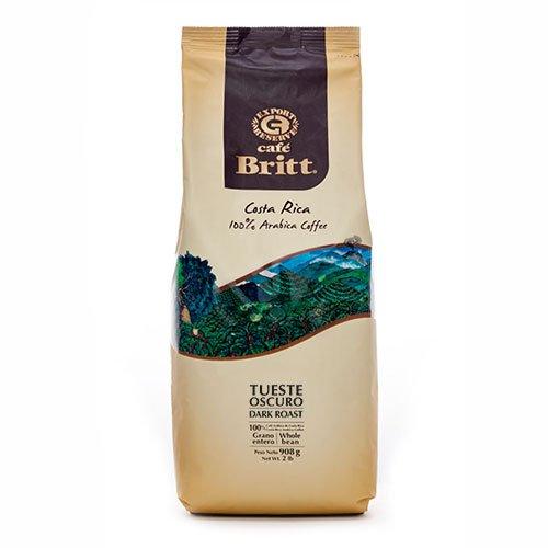 Cafe Britt Costa Rica Dunkle Röstung ganze Bohne Kaffee, 908 g Packung