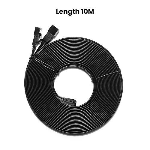 UGREEN Cat 7 Ethernet Kabel 10Gbit/s 600Mhz Lan Kabel Flaches Netzwerkkabel Cat7 FTP Kabel mit vergoldete RJ45 kompatibel mit Cat.6 Cat.5e Cat.5 für Router, Modem, Switch, PS4/3, Patchpannel usw (10m)