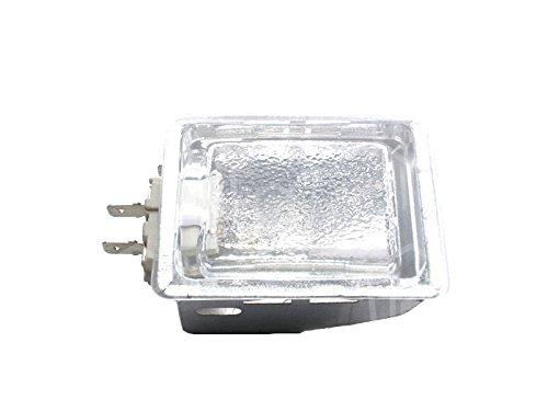 Gam Halogenlampenfassung für Pizzaofen King, Serie M, Serie MD, Serie SB Anschluss Flachstecker 6,3mm komplett Breite 55mm G9 25W