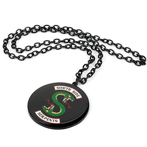 Yunmeng - Collar de programa de televisión redondo esmaltado con colgante de collar, accesorios para mujer y hombre