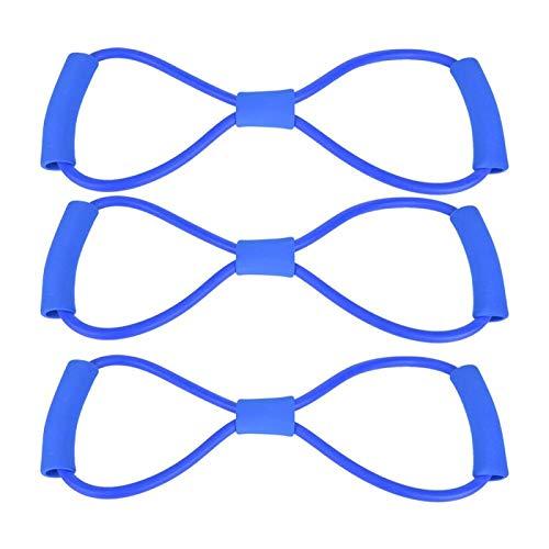 DAUERHAFT Ejercicios de Suelo Yoga Cuerda de tracción Yoga para Personas Mayores para Uso en el hogar(Blue)