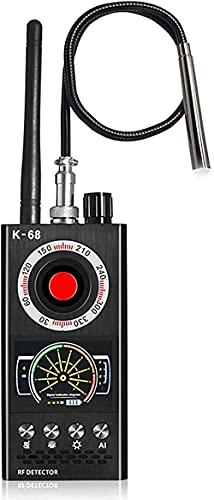 K68 Detector antiespía Detector de dispositivo de escucha Detector automático de cámara oculta Detector automático de insectos Detector de RF Detector de cámara para anti-escucha y anti-monitoreo
