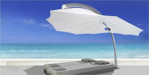 Parasol déporté - Icarus Rond Feuilleovale Olefin Polyester 190g/m2 Taupe