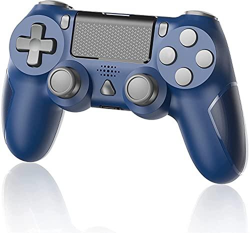 YTEAM Wireless Controller für PS4, Dual Vibration Game Controller für PS4 mit Motion Motors und Audio Funktion Controller für PS4/ PS4 Slim / PS4 Pro Console (Blau)