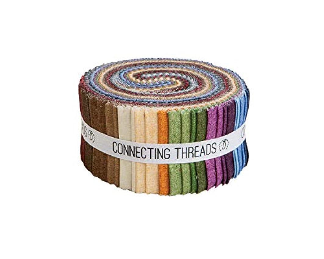 Connecting Threads Blender Collection Precut Quilting Cotton Fabric Bundle (Faux Linen Tonals - 2.5