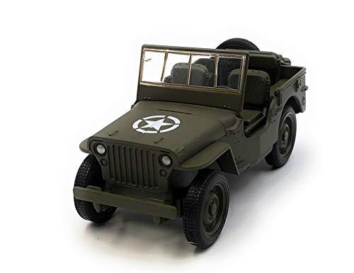 Onlineworld2013 Modellauto Armee Van Army Fahrzeug Grün Auto Maßstab 1:34-39 (lizensiert)
