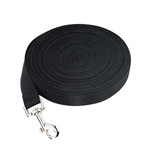 niumanery 10M/15M Faux Nylon Dog Leash Lead for Tracking Training Long Line Traction Rope 10M