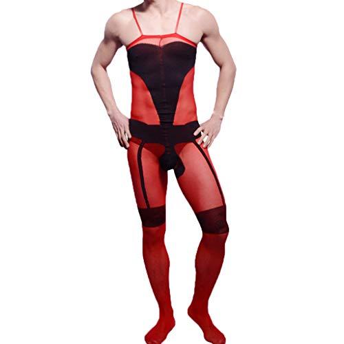 Skxinn Reizvoll Unterwäsche für Herren,Mode Männer Sirene Socken Dessous Sexy Sirene Socken Erotik Unterwäsche Ultradünne Pyjamas Clubwear & Home Ausverkauf(C,One Size)