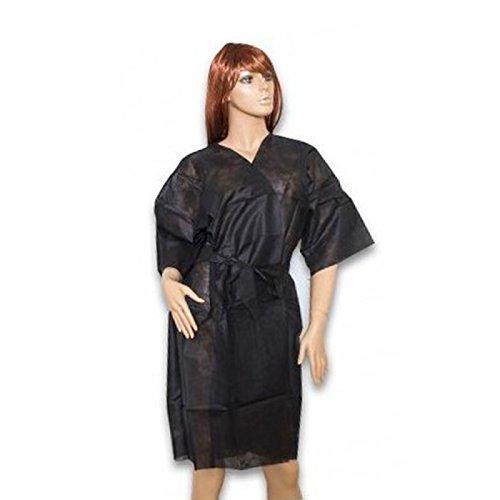 kimono negro desechable en tnt 10und