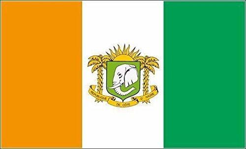 U24 Aufkleber Elfenbeinküste mit Wappen Flagge Fahne 8 x 5 cm Autoaufkleber Sticker