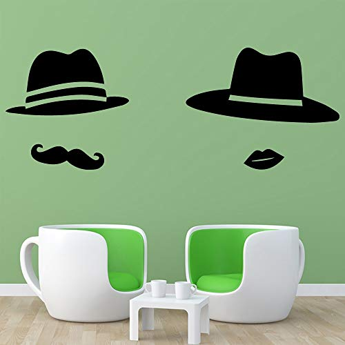 Hut Wandaufkleber Familie Dekoration Wohnzimmer Kinderzimmer Wand Dekorative Wandbild Länge 43 cm X 102 cm purpurn