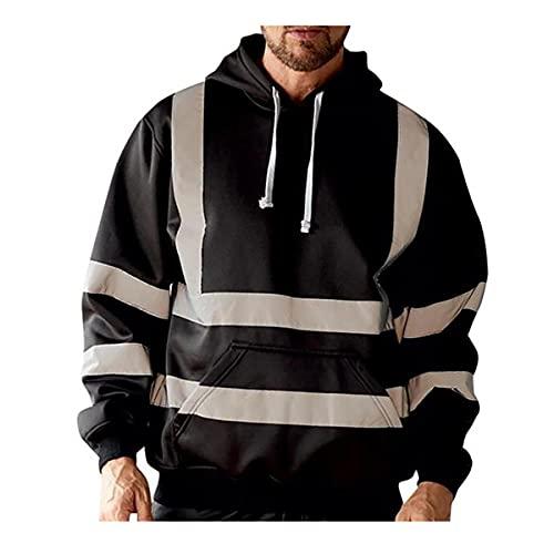 XuuSHA Chaleco de seguridad reflectante de alta visibilid Chaqueta de hombre de ropa deportiva reflectante, jersey de alta visibilidad Chalecos de seguridad para hombres mujeres