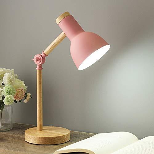 RAQ tafellamp moderne slaapkamer bedlampje kinderen kantoor boekenlamp leeslamp lamp lamp bureau stekker Pink No Bulb