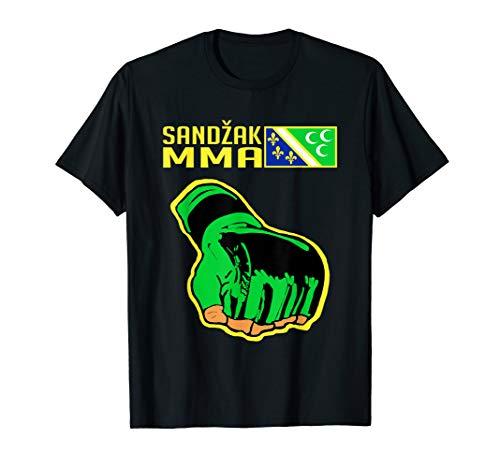 Sandzak MMA Fighter, Cool Sandzak Flagge, Sandzak Fighter T-Shirt